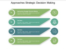 Approaches Strategic Decision Making Ppt Powerpoint Presentation Outline Graphics Cpb