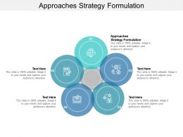 Approaches Strategy Formulation Ppt Powerpoint Presentation Model Graphic Cpb