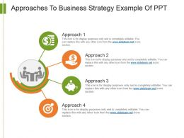 Approaches To Business Strategy Example Of Ppt