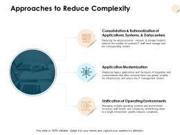 Approaches To Reduce Complexity Application Modernization D119 Ppt Powerpoint Presentation Ideas