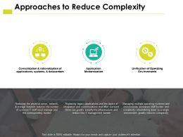 Approaches To Reduce Complexity Modernization Ppt Powerpoint Presentation Slides