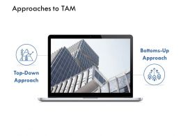 Approaches To Tam Bottom Down K217 Ppt Powerpoint Presentation Graphics Design