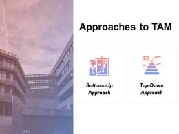 Approaches To Tam Bottom Up Top Down Ppt Powerpoint Presentation Gallery Introduction