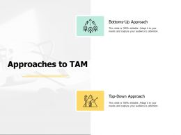 Approaches To Tam Growth Ppt Powerpoint Presentation Layouts Graphics Design