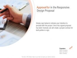 Approval For In The Responsive Design Proposal Ppt Powerpoint Layouts