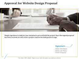 Approval For Website Design Proposal Ppt Powerpoint Presentation Inspiration Icons
