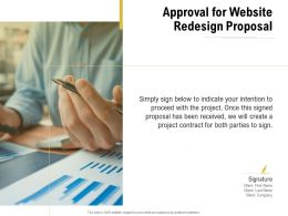 Approval For Website Redesign Proposal Ppt Powerpoint Presentation File Maker