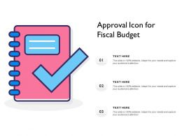 Approval Icon For Fiscal Budget