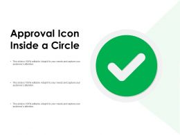 Approval Icon Inside A Circle