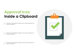 Approval Icon Inside A Clipboard