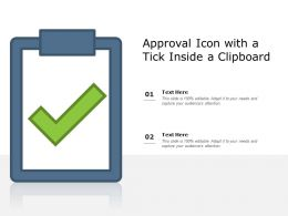 Approval Icon With A Tick Inside A Clipboard