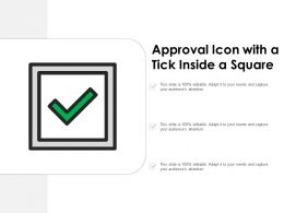 Approval Icon With A Tick Inside A Square