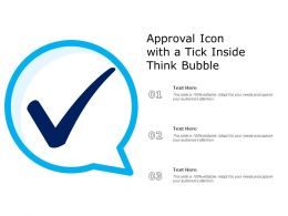 Approval Icon With A Tick Inside Think Bubble