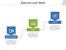 Approval Level Matrix Ppt Powerpoint Presentation Model Summary Cpb