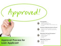 Approval Process For Loan Applicant