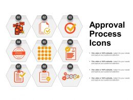 Approval Process Icons Powerpoint Templates