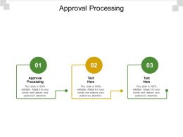 Approval Processing Ppt Powerpoint Presentation Summary Example File Cpb