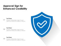 Approval Sign For Enhanced Credibility