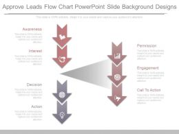 Approve Leads Flow Chart Powerpoint Slide Background Designs