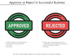 Approve Or Reject In Successful Business
