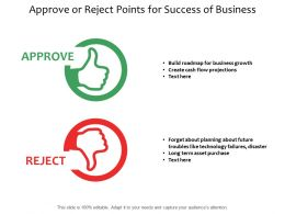 Approve Or Reject Points For Success Of Business