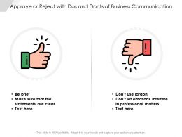 Approve Or Reject With Dos And Donts Of Business Communication