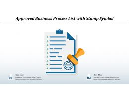 Approved Business Process List With Stamp Symbol