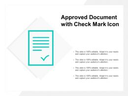 Approved Document With Check Mark Icon