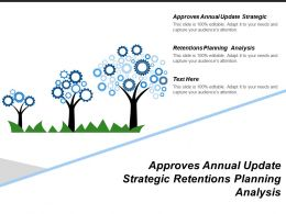 Approves Annual Update Strategic Retentions Planning Analysis