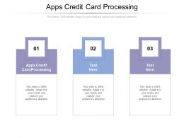Apps Credit Card Processing Ppt Powerpoint Presentation Model Pictures Cpb