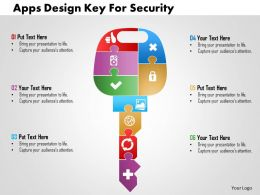 Apps Design Key For Security Flat Powerpoint Design