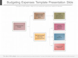 Apt Budgeting Expenses Template Presentation Slide