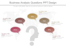 Apt Business Analysis Questions Ppt Design