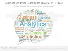 Apt Business Analytics Dashboard Diagram Ppt Slides