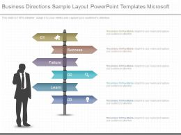 Apt Business Directions Sample Layout Powerpoint Templates Microsoft