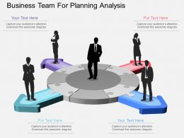apt Business Team For Planning Analysis Flat Powerpoint Design
