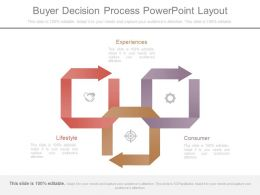 Apt Buyer Decision Process Powerpoint Layout