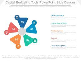 Apt Capital Budgeting Tools Powerpoint Slide Designs