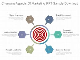 Apt Changing Aspects Of Marketing Ppt Sample Download