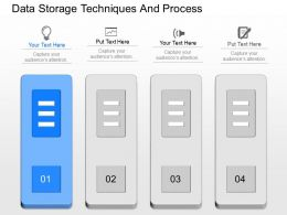 apt Data Storage Techniques And Process Powerpoint Template