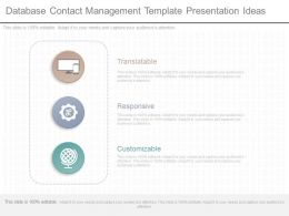 Apt Database Contact Management Template Presentation Ideas
