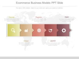 Apt Ecommerce Business Models Ppt Slide