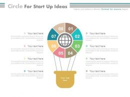 apt Eight Staged Circle For Start Up Ideas Flat Powerpoint Design
