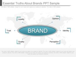 Apt Essential Truths About Brands Ppt Sample