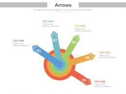 apt Five Arrows Circle For Production Process Management Flat Powerpoint Design