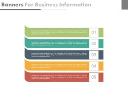 apt Five Staged Banners For Business Information Flat Powerpoint Design