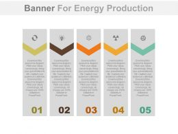 apt Five Staged Banners For Energy Production Flat Powerpoint Design