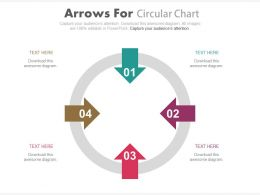 apt Four Arrows For Circular Chart Flat Powerpoint Design