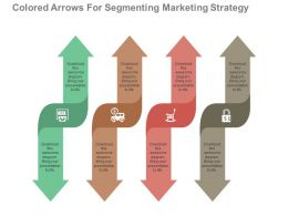 apt Four Colored Arrows For Segmenting Marketing Strategy Flat Powerpoint Design