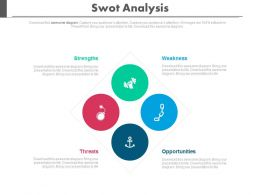 apt Four Parts Of Swot Analysis Flat Powerpoint Design